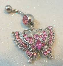 butterfly crystal rings images 360 best belly button rings images belly piercings jpg