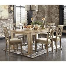 Antique White Chairs Signature Design By Ashley Mestler 7 Piece Table Set With Antique