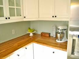 Dark Butcher Block Countertops Before And After A Dated Dark - White kitchen cabinets with butcher block countertops