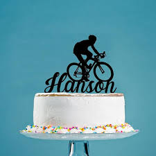 bicycle cake topper road bike with name cake topper cyclist cyclist birthday