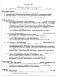 Systems Analyst Resume Example by Claims Analyst Resume Example Insurance And Finance