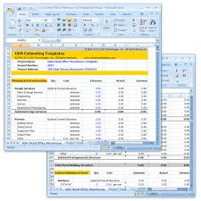 Estimate Template Excel Uda Construction Estimating Templates Light Commercial Excel