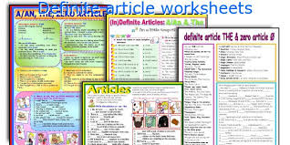 english teaching worksheets definite article
