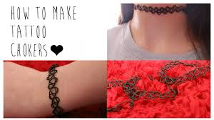make tattoo necklace images Diy how to make your own tattoo chokers jpg