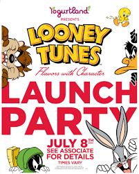 yogurtland looney tunes launch party july 8 2013 free