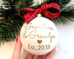 Grandparent Christmas Ornaments Grandma To Be Etsy