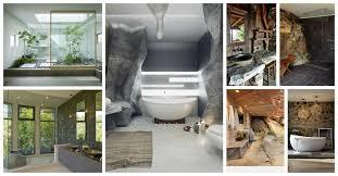 River Rock Bathroom Ideas Unique Rock Bathroom Designs That Will Make You Say Wow