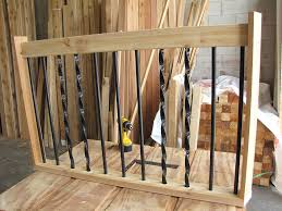 How To Build A Deck Handrail The Deck Barn How To Install Metal Spindles