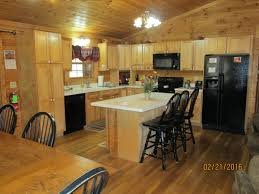Lodge Kitchen by Sunrise Log Cabins Hocking Hills Cottages And Cabins