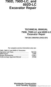 john deere 160 manual deere 790d 790dlc 892dlc d series excavator service manual