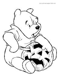 winnie pooh halloween coloring pages kids