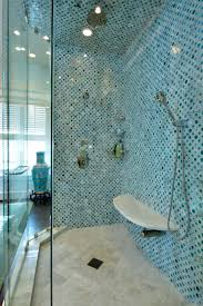 Shower Wall Ideas by Furniture Great Image Of Blue Bathroom Shower Decoration Using