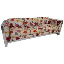 Mid Century Modern Sofa Bed by Lovely Chunky Chrome Milo Baughman Style Mid Century Modern Sofa