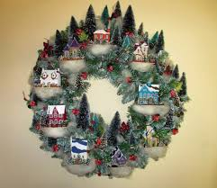 christmas village wreath my version of a martha stewart de u2026 flickr