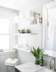 easy bathroom remodel ideas bathroom remodel ideas with open shelf and small glass plants