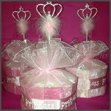 Baby Shower Table Centerpieces by Mini Diaper Cake Table Centerpieces Created For A Princess Theme