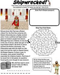 free bible worksheet apostle paul is shipwrecked free download