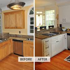 Refinished Kitchen Cabinets Kitchen Elegant Cabinet Refacing Remodeling Solvers Of Madison Wi
