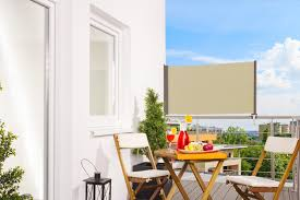 sonnenrollo f r balkon markise creme balkonsichtschutz balkonverkleidung 80 x 300 cm