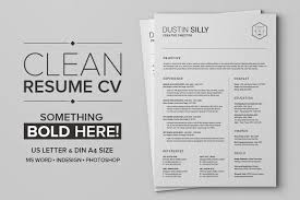 Clean Resume Template Word Clean Resume Cv Silly Resume Templates Creative Market