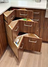 kitchen cabinet corners nothing lazy about this corner contemporary kitchen