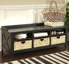 Storage Bench With Cushion Entryway Storage Bench Benches Lancaster Espresso Brown Entryway