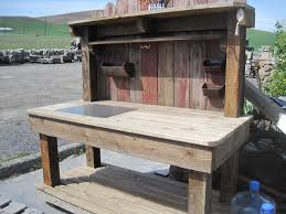 Wooden Potting Benches Blank