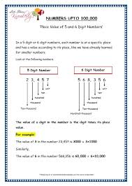 grade 4 maths resources 1 1 place value of 5 and 6 digit numbers