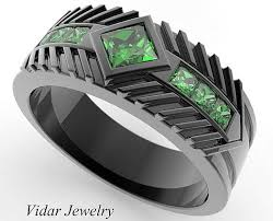 wedding rings for men mens wedding band black emerald wedding band men black gold
