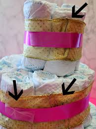 diper cake modern twist on the baby shower cake