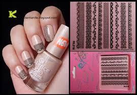 3d nail seal black nail design lace nail seal sticker 210 kkcenterhk