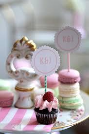 monogram cupcake toppers diy monogram dessert toppers the elli