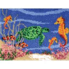 mcg textiles 37663 the sea latch hook rug kit
