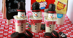 holiday treats frosty snowman snack pack