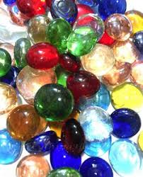 Coloured Glass Beads For Vases Blue Glass Pebbles Mosaic Nuggets Vase Marbles Craft Art
