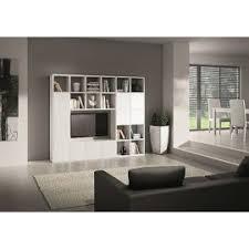 libreria tv parete moderno soggiorno porta tv legno bianco frassinato componibile