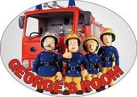 prezzies fireman sam crew personalised oval door plaque