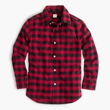 oxford cotton shirt in buffalo check boys shirts j crew
