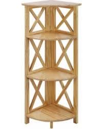 Natural Wood Bookcase Spring Savings On Montego 4 Shelf Corner Folding Black Natural