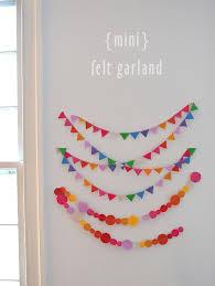 mini felt garland artbar