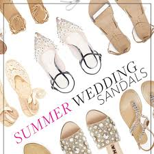 wedding shoes sandals shoes for outdoor summer wedding brides