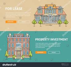 real estate market flat line web stock vector 355118783 shutterstock