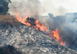 siege air bel air wildfire joins the fiery siege across southern california