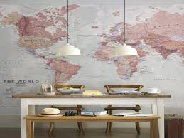 World Map Wall Decor Small Room Interior Decoration Framed World Map Wall Art World
