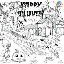 free scary halloween coloring pages middle pictures color