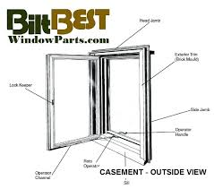 Awning Components Casement Windows Parts Diagram Casement Window Parts Replacement