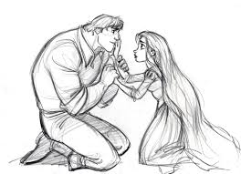 disney cartoon pencil drawings tangled sketches and characters