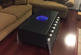 Infinity Mirror Desk The Attractive Mirrored Coffee Table Home Furniture And Decor