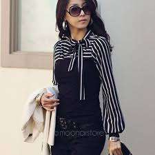black and white blouse formal office black white striped blouses bow