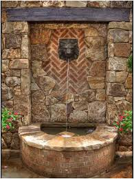 backyards gorgeous wall stone cool backyard fountains great